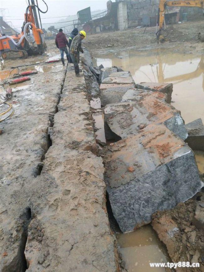 吉林水库修建不能爆破怎么办岩石裂石机简单操作