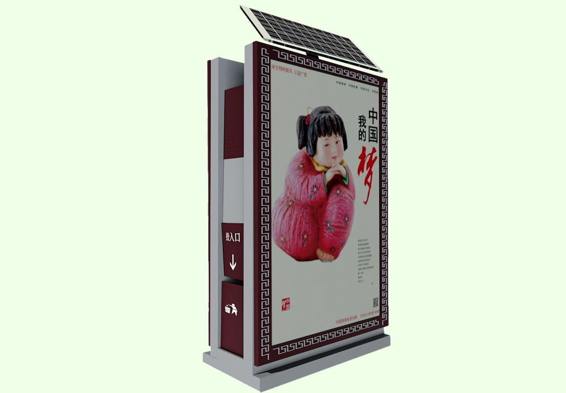 鄂尔多斯广告垃圾箱不锈钢滚动垃圾箱灯箱好用的