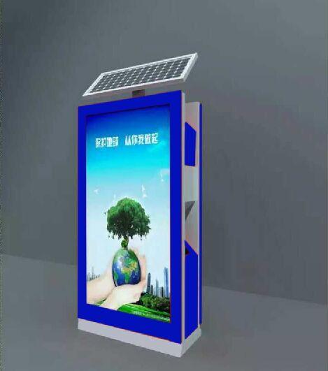 池州广告垃圾箱不锈钢滚动垃圾箱灯箱品质保证