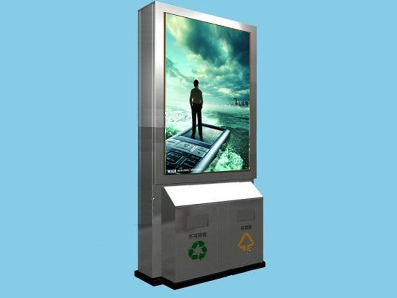 吉林广告垃圾箱可分类靠背垃圾箱价格