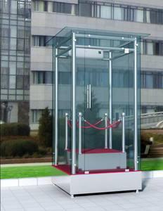 吉林消防部队形象站岗岗亭不锈钢玻璃岗亭哪家好