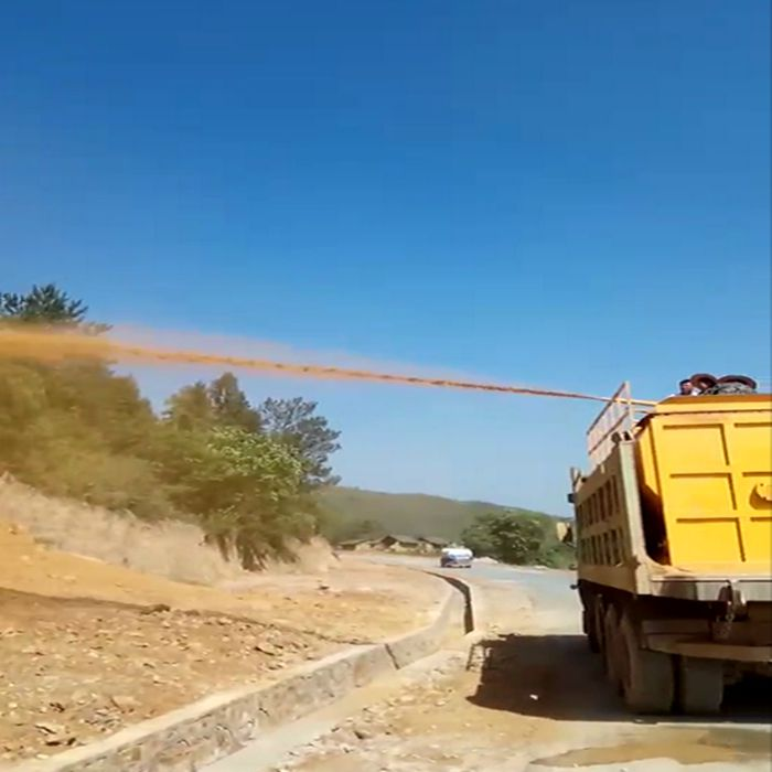 吉林高速护坡种草绿化喷浆机