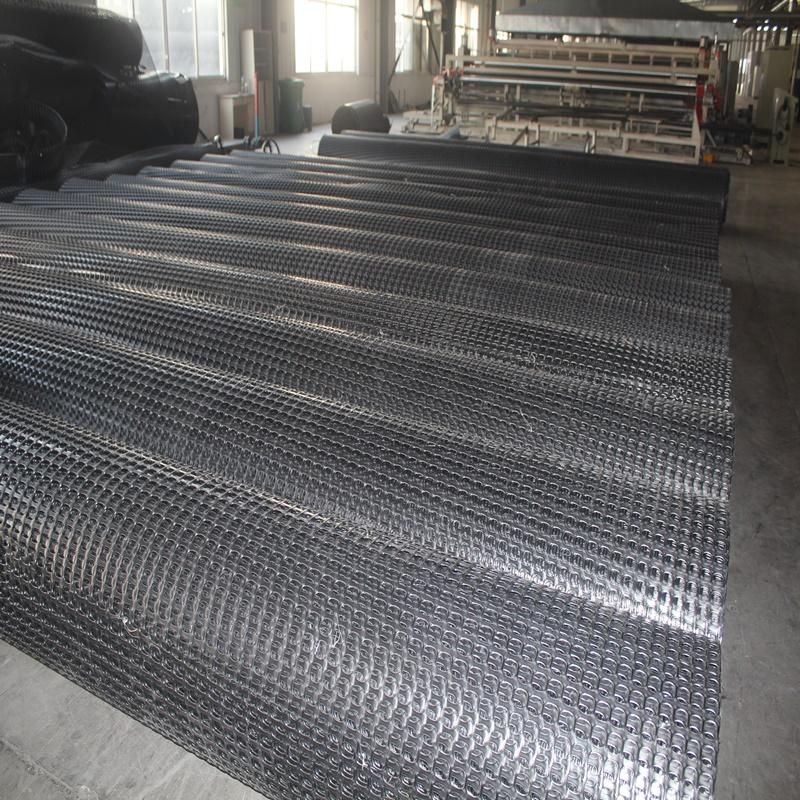 延边双向塑料土工格栅双向经编玻纤土工格栅GSB50专卖厂家